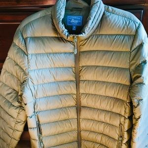 G.H. Bass & Co.- duck down feather coat- M (green)